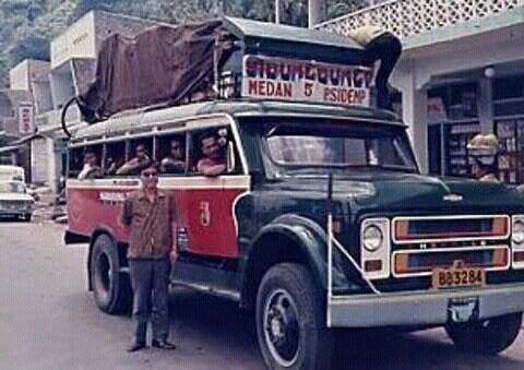 Vintage Bus in Sumatera