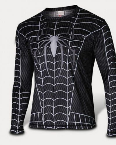 Venom Black Spiderman long sleeve t shirt for men The Amazing Spider-Man-