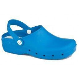 Zuecos sanitarios flotantes Feliz Caminar azul cyan #confort #confortable #pies #foot #fashion #moda #calzado #Professional #unisex #croocs