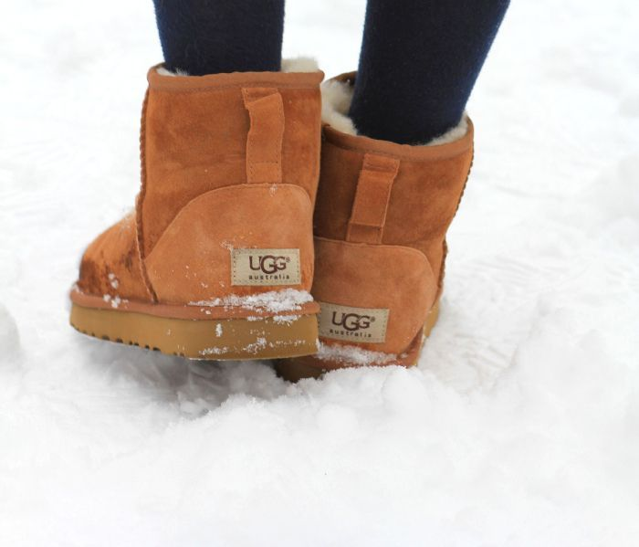 Ugg - Classic Chestnut Waterproof them with Morgan's Spray.  Will waterproof them and help keep them nice and new. 608.238.3509