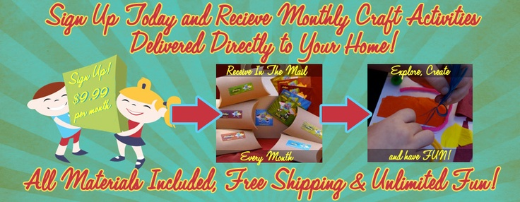 3 easy steps!    1. Subscribe to Kelly Kits  2. Art kits are delivered to your door monthly  3. Get creative with your kiddo(s) with your monthly art play activity!  Get Kreative Today!  Only $9.99 per month shipping included!