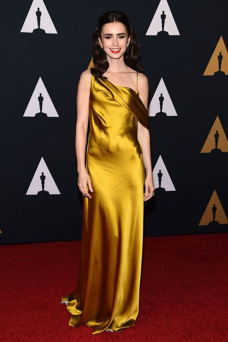 Lily Collins in Amanda Wakeley - The Governors Awards, Los Angeles – November 12 2016
