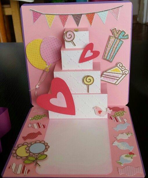 Tarjeta de cumpleaños para niña manualidades y scrap hechas por mi Pinterest