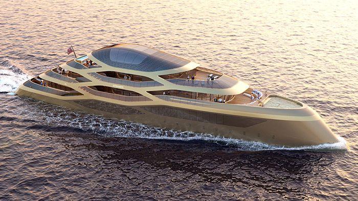 Fernando Romero navrhl pro Benetti luxusní jachtu Se77antasette