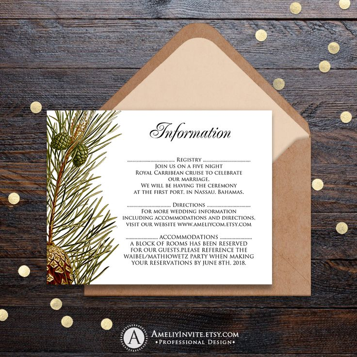 reception information on back of wedding invitation%0A Find this Pin and more on Wedding Entourage by ameliycom