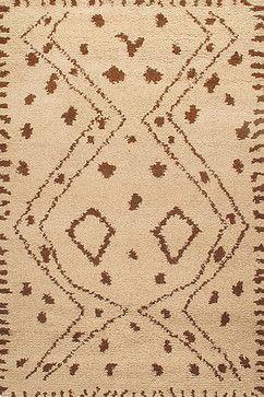 Rugsville Moroccan Beni Ourain Beige Wool Rug 13756 5'x8' mediterranean-rugs