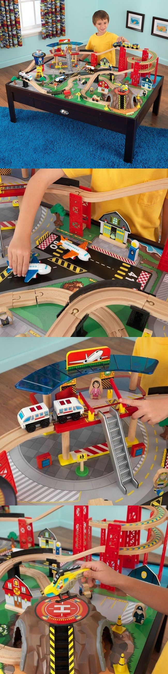 Brio Compatible 16517: Toy Train Table Top Toys For Kid Wooden Set Airport Boy 100 Piece Sturdy Station -> BUY IT NOW ONLY: $168 on eBay!