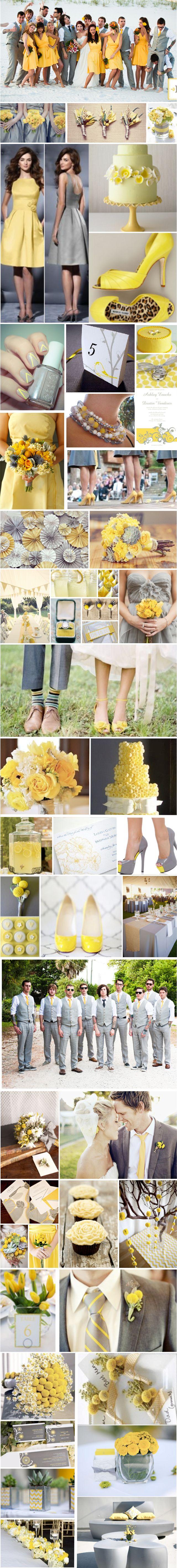 wedding inspiration: gray and yellow