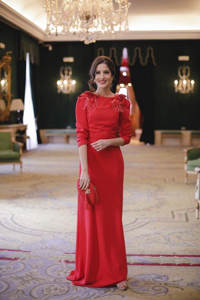 Vestidos boda noche rojos