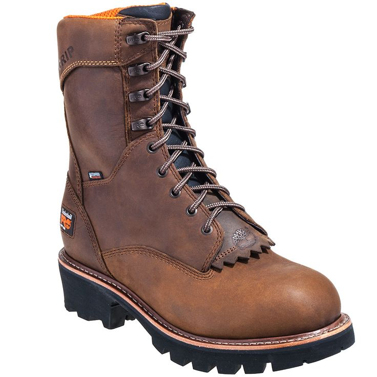 Timberland Pro Boots 92644 Mens Brown Rip Saw EH Waterproof Logger Boots