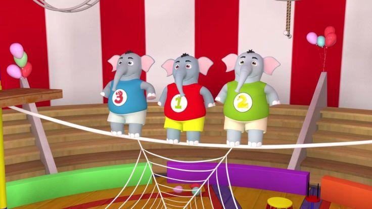Песня Про Слонят - Учимся считать от 1 до 10 - Песни Для Детей.tv