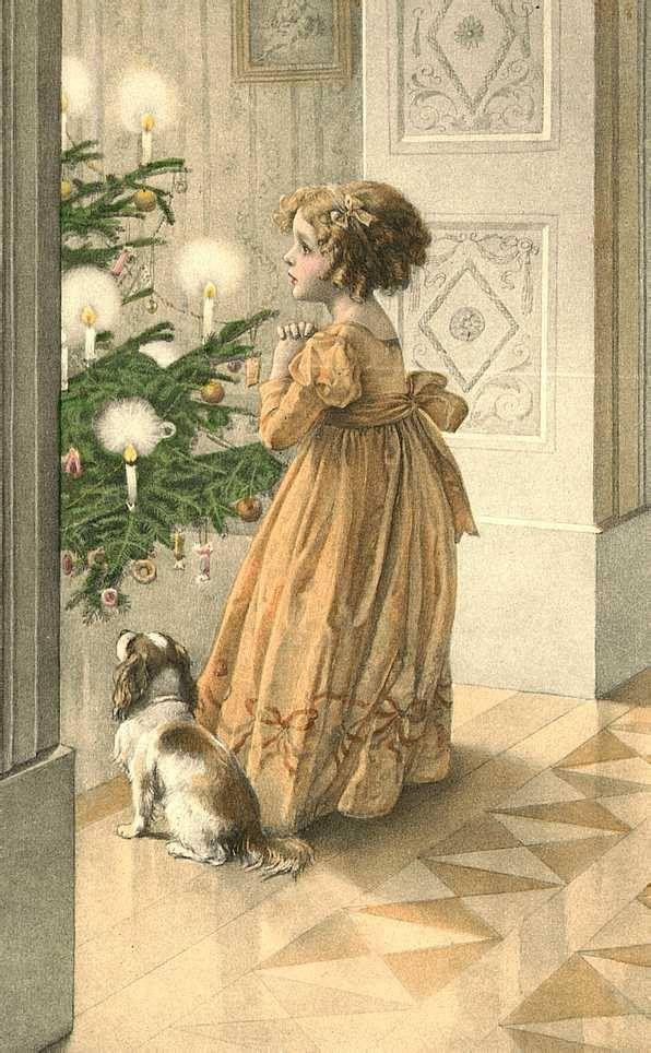 Открытки днем, с рождеством картинки винтажные