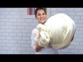 Pufe em Maxi Crochê | Fio de Malha - YouTube
