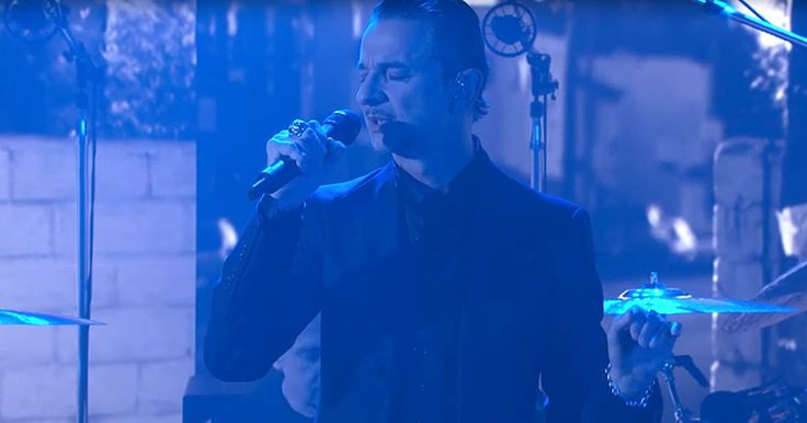 See Depeche Mode Perform Outsider Ode 'Cover Me' on 'Kimmel' #headphones #music #headphones