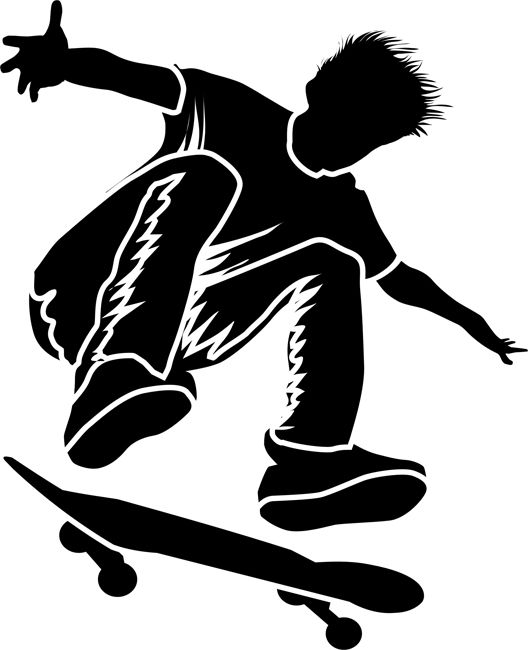 Quickly and easily create an extreme sports inspired design on walls anywhere with our Pop Shove It Skateboarding Painting Stencil!