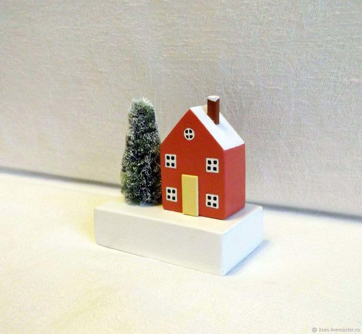 Купить Новогодний домик, декор дома в интернет магазине на Ярмарке Мастеров