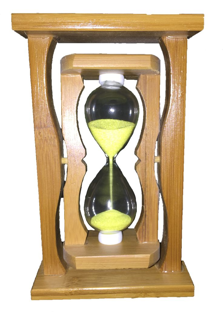 Creative Motion Industries Sand Timer with Yellow Sands, Clear