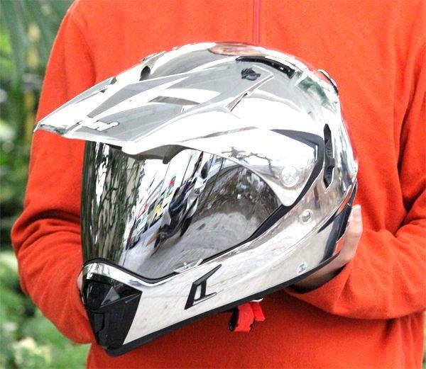 MASEI CHROME 311 ATV MOTOCROSS MOTORCYCLE ICON KTM HELMET