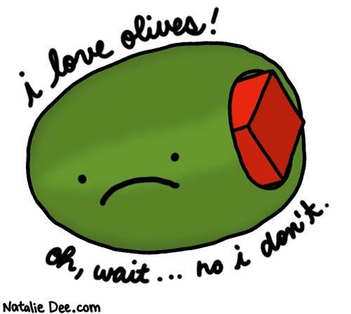 Image result for ew i hate olives