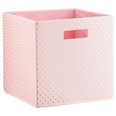 Polka Dots KD Storage Bin Pink - Pillowfort™ : Target