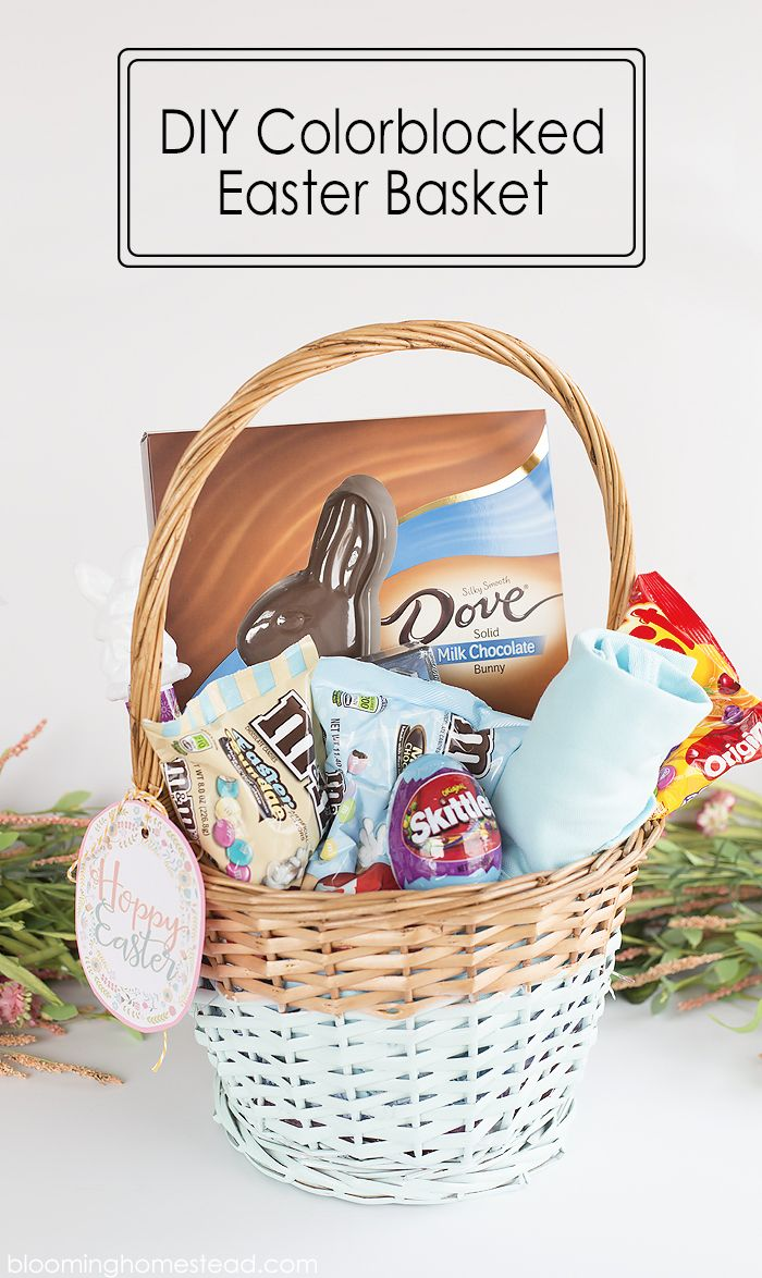 78 best easter images on pinterest easter baskets easter basket diy colorblock easter basket negle Image collections