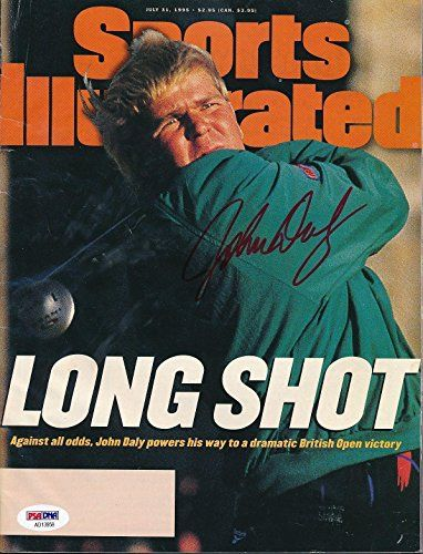 John Daly Signed July 31, 1955 SI Magazine Autograph Auto AD13958 - PSA/DNA Certified - Autographed Golf Magazines  100% Certified Authentic and Backed by our Sports Memorabilia Authenticity Guarantee  Comes with a Certificate of Authenticity from and PSA/DNA  Category; Autographed Golf Magazines  Makes a Great Gift!