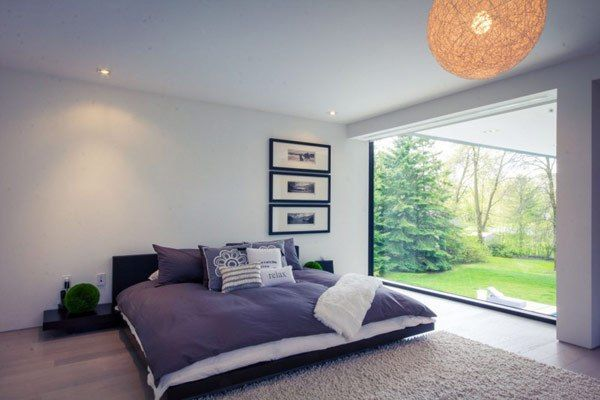 Ontario House Platform Bed.. Love the glass, would need curtains in the evenings tho.