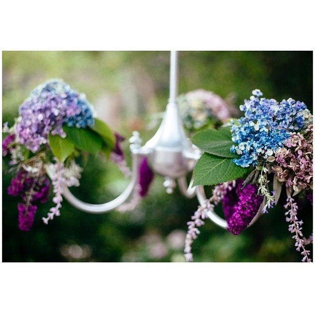 Floral chandelier detail #floralchandeliers #flowers #willowandvine #parties #weddings #styling #sweet #eventdecor