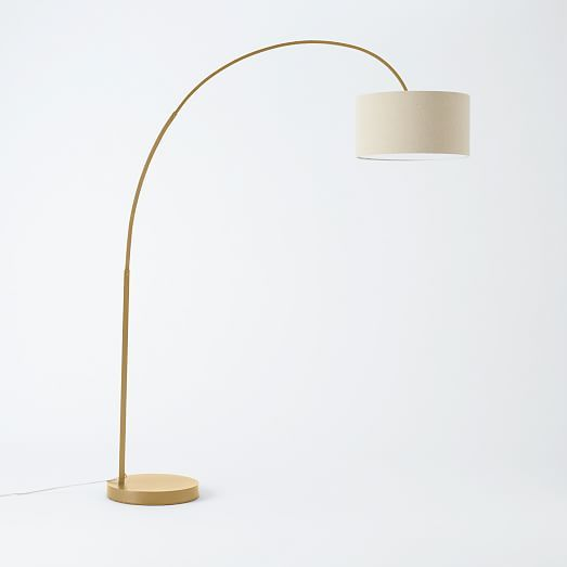 here's the BRASS/gold tone....Overarching Floor Lamp- Antique Brass | west elm