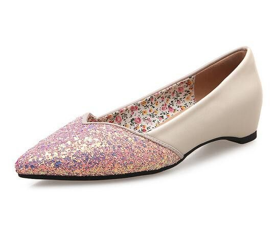 Pointed Toe Sequin Women Flats Shoes _Flats Women Shoes Wholesale Shoes Wholesale Clothing, Cheap Clothes Online, Discount Clothing Shop - UniWholersaler.com