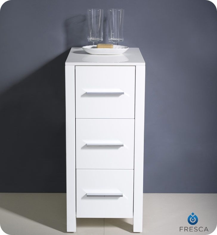 fresca torino side cabinet is thin and will fit perfectly in any bathroom especially small bathrooms