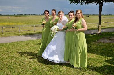 Green bridesmaids dresses