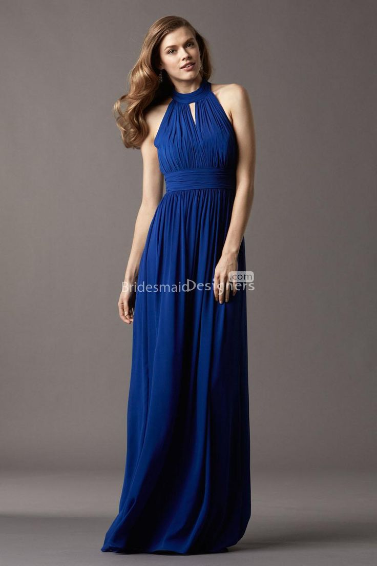 23 best for my girls bridesmaids images on pinterest blue keyhole funnel neck sleeveless long royal blue bridesmaid dress us 33200 off us17900 ombrellifo Images