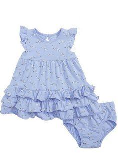 Infant Girl's Rosie Pope Seagulls Ruffle Dress