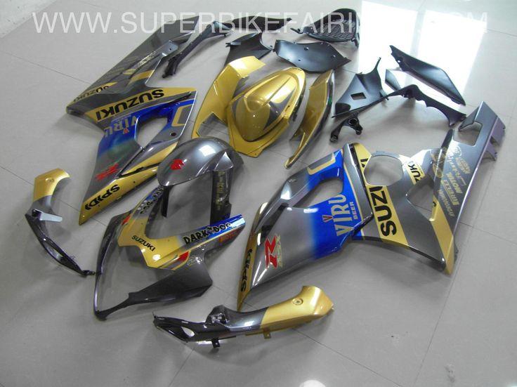 2005-2006 GSXR-1000 Grey & Gold Viru Fairings