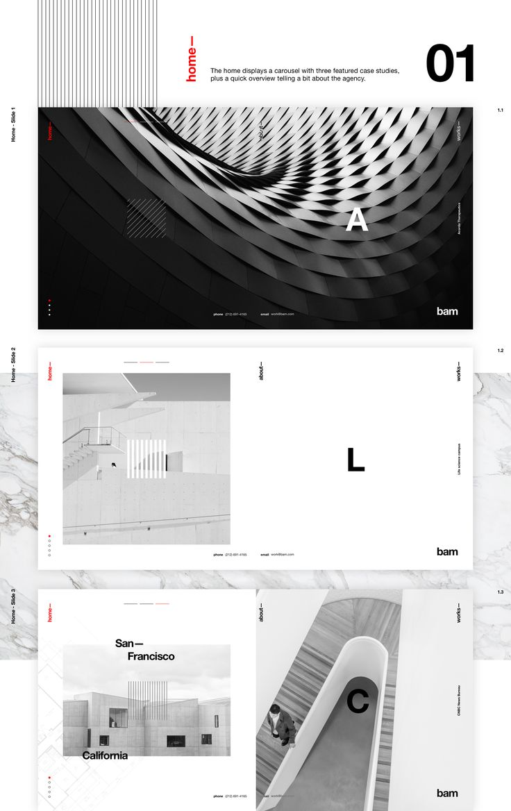 Webiste concept for an architecture studio.Content is mostly fake. Based on a real architecture studio with this name. Some images belong to Bam Studio and others were taken from Unsplash.The concept behind the art direction is the invisibility of des…