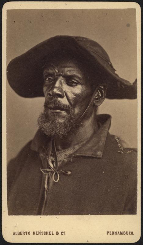 Portrait of an Afro-Brazilian man, Pernambuco, Brazil, by Alberto Herschel, ca. 1869.