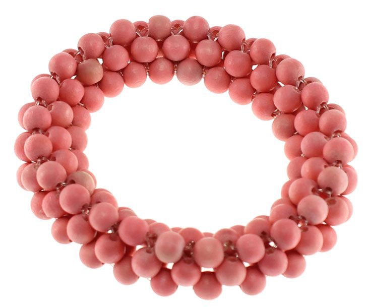 Lucy & Alice Jewellery, Summer 2014 collection, Pink 'fig' bracelet. http://www.lucyandalice.com.au/