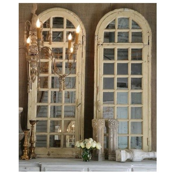 Old Arched Windows Backed With Mirrors Home Decor
