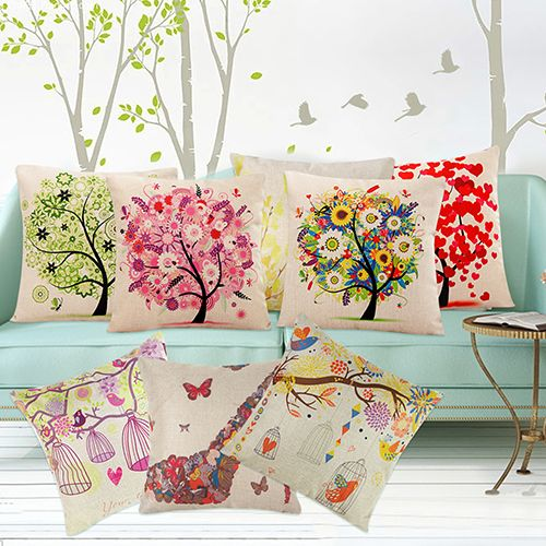 New Arrival Fashion Square Linen Throw Pillow Case Cushion Cover Home Sofa Decoration BHUJ
