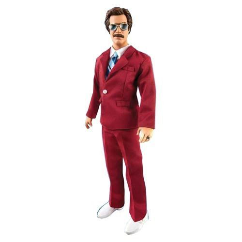 """RON BURGUNDY 13"""" TALKING ACTION FIGURE. The legendary Ron Burgundy wanted to make sure his wisdom would be passed down to future generations completely intact. Enter: the Anchorman The Legend of Ron Burgundy 13-Inch Talking Action Figure! Looking great in the 1:6 scale, this amazing 13-inch tall action figure states 10 phrases from the Anchorman: The Legend of Ron Burgundy film. Tailored in a dashing red suit, this amazing action figure even lets you see things through the eyes of Ron..."""