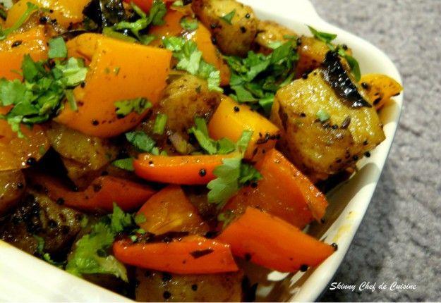 Potato Bell-Pepper Sabzi – an Indian Stir-Fry - Real Recipes from Mums