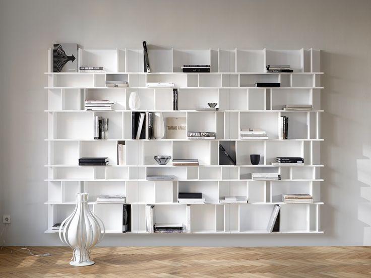 Como - white designer bookcase Sydney