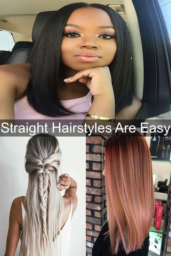 Hairstyles For Straight Hair Hair Straightening Styles Long Hair How To Straighten Hair Naturally For Mens In 2020 Hair Styles Long Hair Styles