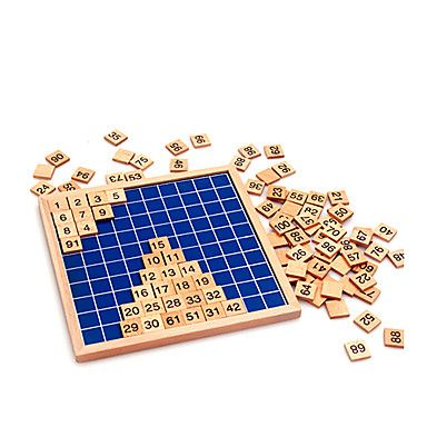 Montessori+matematiikka+1-100+laskenta+puulevy+lelut+–+EUR+€+29.99