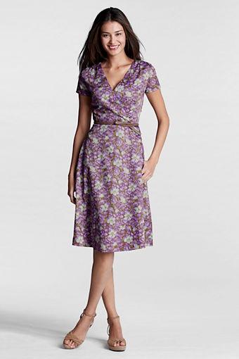 Women's Pattern Surplice Dress from Lands' End: Dresses Orchids, Landsend Dresses, Lands End, Land End, Day Dresses, Wraps Dresses, Super Cute Dresses, Beautiful Fashion, Land'S End