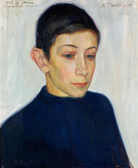 Nils von Dardel, Gossporträtt (boy portrait), 1910.
