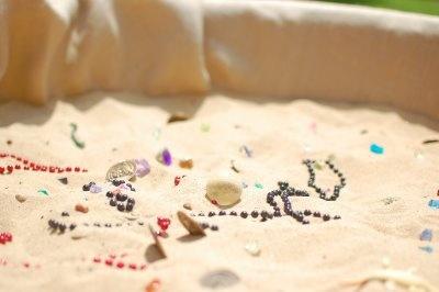 buried treasure in a kiddie pool draped in burlap: Pirates Ideas, Hunt'S Sandbox, Sandbox Treasure, Mason 2Nd, Pirates Birthday, Pirates Parties, Pirates Games, 2Nd Birthday, Pirate Party'S