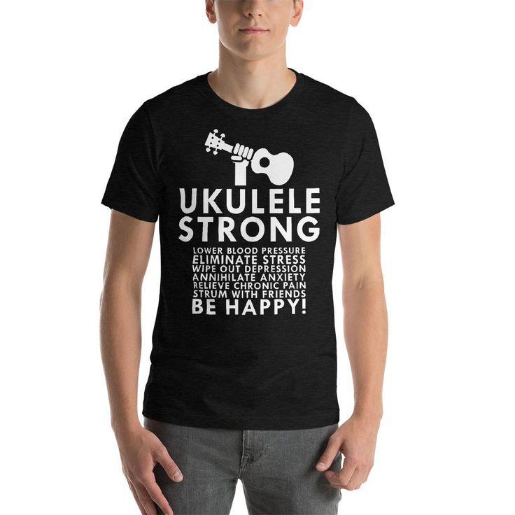 Get Healthy & Play the Ukulele!  Get free shipping with this new Ukulele Strong T-Shirt by Uke Company. @ukecompany #ukulele
