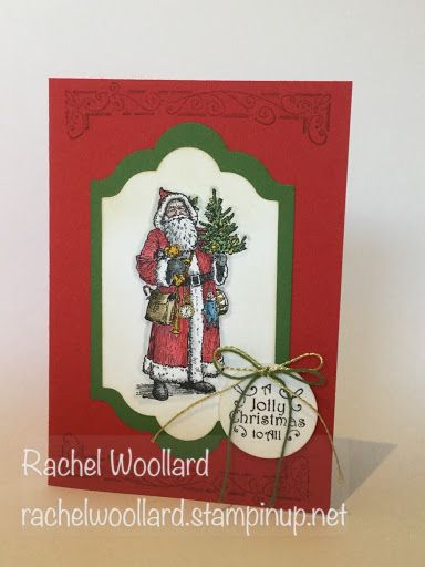 Stampin' Up! Father Christmas stamp set from 2016 Holiday Catalogue. Card by Rachel Woollard Stampin Up Demonstrator Melbourne East. Regular Stampin Up classes available.